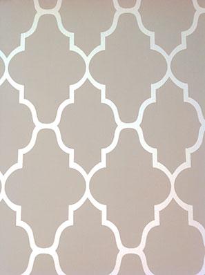stencil impreziosce pareti e pavimenti con sinuose forme geometriche ...